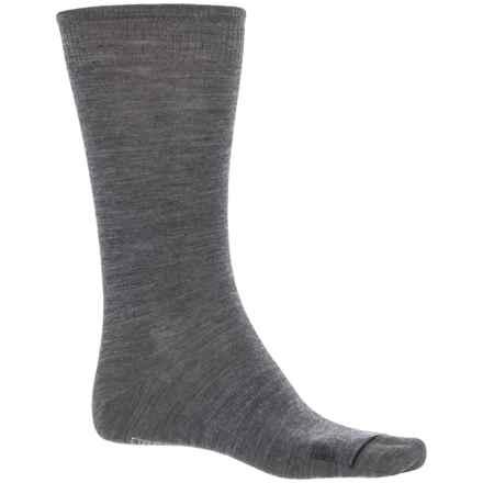 SmartWool Anchor Line Socks - Merino Wool, Crew (For Men) in Medium Gray/Black - 2nds