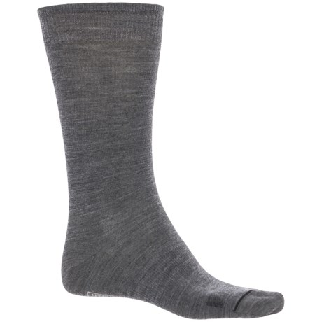 SmartWool Anchor Line Socks - Merino Wool, Crew (For Men) in Medium Gray/Black