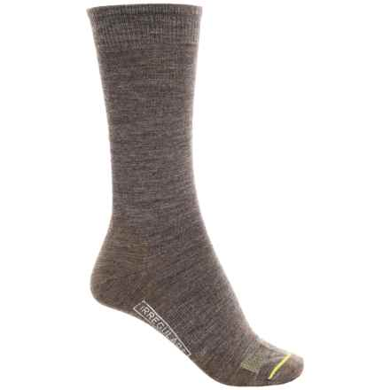 SmartWool Anchor Line Socks - Merino Wool, Crew (For Men) in Taupe - 2nds