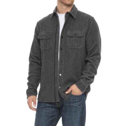 SmartWool Anchor Pattern Shirt Jacket - Merino Wool (For Men) in Charcoal Heather - Closeouts