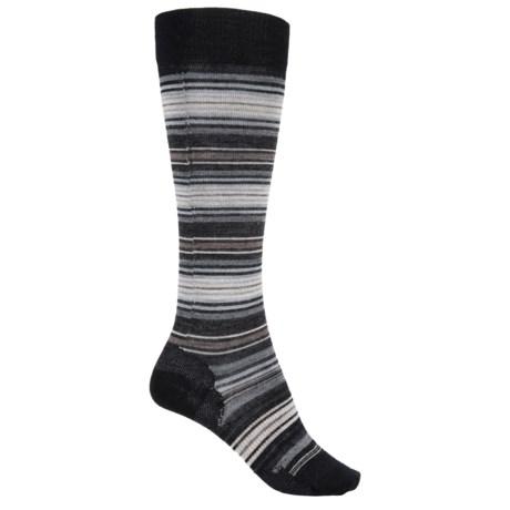 SmartWool Arabica II Socks - Merino Wool, Over-the-Calf (For Women) in Black