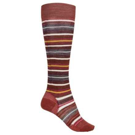 SmartWool Arabica II Socks - Merino Wool, Over the Calf (For Women) in Moab Rust Heather - 2nds