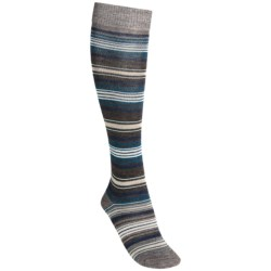 SmartWool Arabica II Socks - Merino Wool, Over-the-Calf (For Women) in Taupe Heather