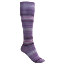 SmartWool Arabica Stripe Socks - Merino Wool, Over-the-Calf (For Women) in Lavendar Heather - 2nds