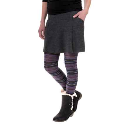SmartWool Arabica Tights - Merino Wool (For Women) in Charcoal Heather - Closeouts