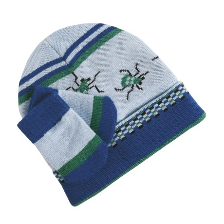 SmartWool Argyle Hat and Mitten Set - Merino Wool (For Infant Boys) in Blueprint