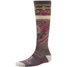 SmartWool Arrow Top Casual Socks - Over the Calf (For Women) in Taupe - 2nds