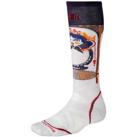 SmartWool Athlete Artist Socks - Anthony Boronowski, Merino Wool, Over the Calf (For Men and Women) in Silver - 2nds