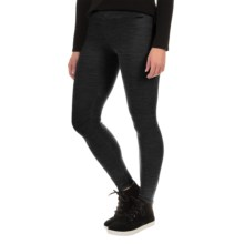 SmartWool Auster Waffle-Knit Leggings - Merino Wool (For Women) in Black - Closeouts