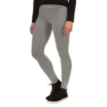 SmartWool Auster Waffle-Knit Leggings - Merino Wool (For Women) in Silver Grey Heather - Closeouts
