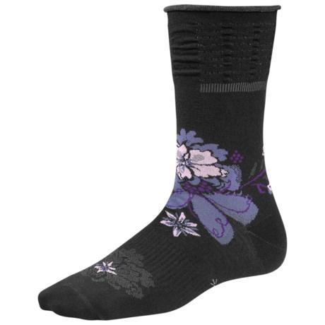 SmartWool Azalea Crew Socks - Merino Wool (For Women) in Black