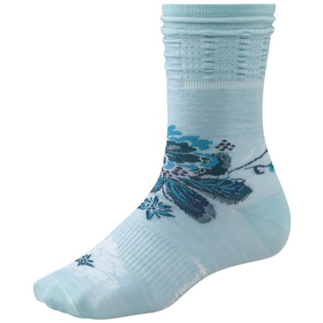 SmartWool Azalea Crew Socks - Merino Wool (For Women) in Clearwater