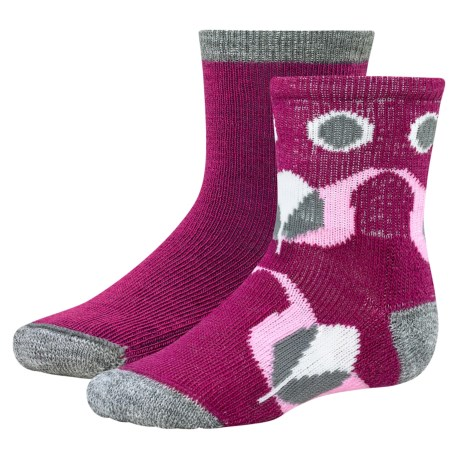 SmartWool Baby Sock Sampler - Merino Wool, 2-Pack (For Infants and Toddlers) in Berry/Grey