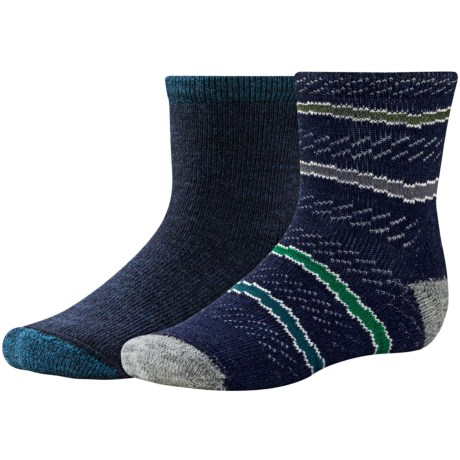 SmartWool Baby Sock Sampler - Merino Wool, 2-Pack (For Infants and Toddlers) in Deep Sea Heather