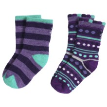 SmartWool Baby Sock Sampler - Merino Wool, 2-Pack (For Infants and Toddlers) in Grape/Spear - Closeouts