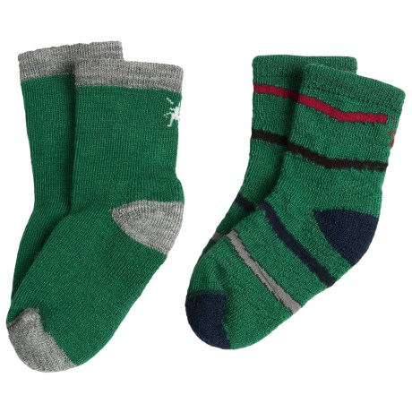 SmartWool Baby Sock Sampler - Merino Wool, 2-Pack (For Infants and Toddlers) in Grass/Grey