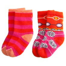 SmartWool Baby Sock Sampler - Merino Wool, 2-Pack (For Infants and Toddlers) in Peony - Closeouts