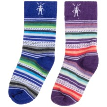 SmartWool Baby Sock Sampler - Merino Wool, 2-Pack (For Infants and Toddlers) in Purple/Blue Stripes - Closeouts