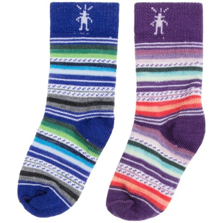 SmartWool Baby Sock Sampler - Merino Wool, 2-Pack (For Infants and Toddlers) in Purple/Blue Stripes
