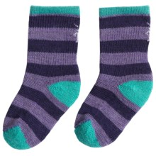SmartWool Baby Sock Sampler - Merino Wool, 2-Pack (For Infants and Toddlers) in Purple Stripe - Closeouts