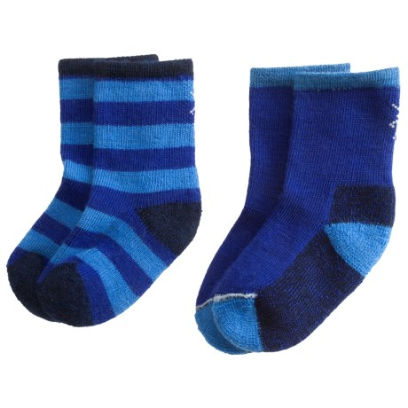 SmartWool Baby Sock Sampler - Merino Wool, 2-Pack (For Infants and Toddlers) in Royal