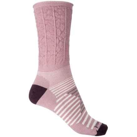 SmartWool Bailer Boot Socks - Merino Wool, Crew (For Women) in Woodrose Heather - 2nds