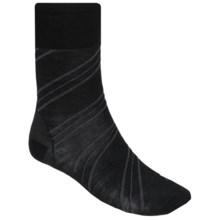 SmartWool Barber Pole Crew Socks - Merino Wool (For Men) in Black - 2nds
