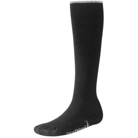SmartWool Basic Knee-High Socks - Merino Wool (For Women) in Black - 2nds