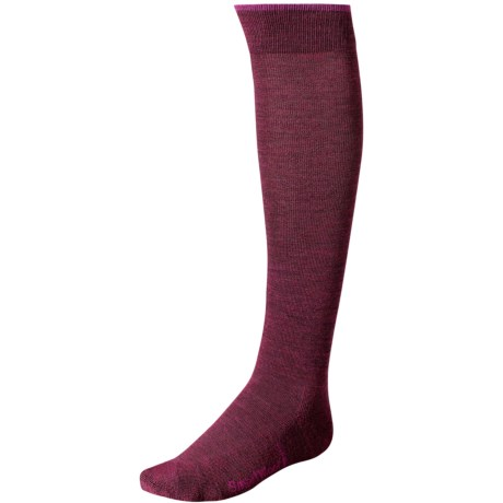 SmartWool Basic Knee-High Socks - Merino Wool (For Women) in Wine Heather