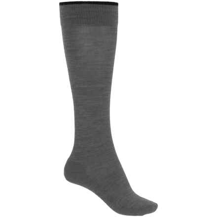 SmartWool Basic Knee-High Socks - Merino Wool, Over the Calf (For Women) in Medium Gray Heather - Closeouts