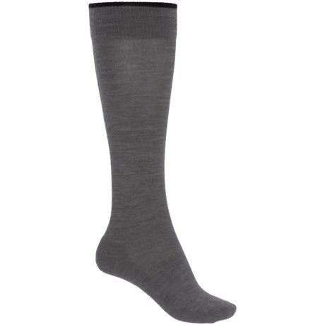 SmartWool Basic Knee-High Socks - Merino Wool, Over the Calf (For Women) in Medium Gray Heather