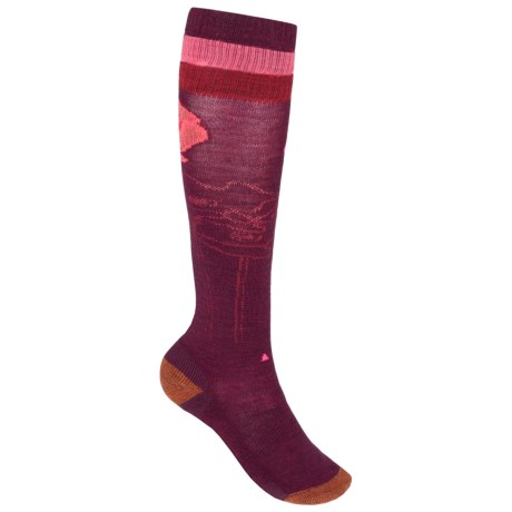 SmartWool Between Drops Knee-High Socks - Merino Wool, Over-the-Calf (For Women) in Aubergine Heather