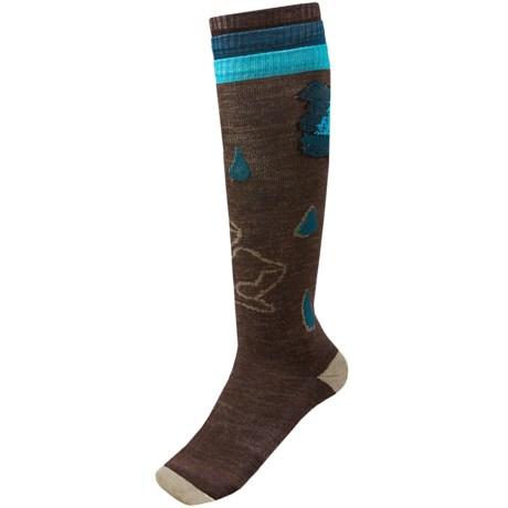 SmartWool Between Drops Knee-High Socks - Merino Wool, Over-the-Calf (For Women) in Chestnut