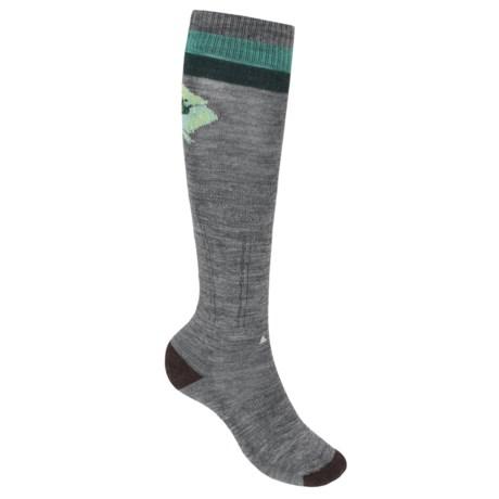 SmartWool Between Drops Knee-High Socks - Merino Wool, Over-the-Calf (For Women) in Medium Gray