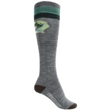 SmartWool Between Drops Knee-High Socks - Merino Wool, Over-the-Calf (For Women) in Medium Gray - 2nds