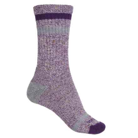 SmartWool Birkie Socks - Merino Wool, Crew (For Women) in Mountain Purple Heather - Closeouts