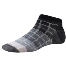 SmartWool Block by Block Ankle Socks - Merino Wool (For Women) in Black - Closeouts