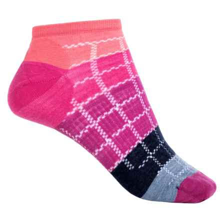 SmartWool Block by Block Ankle Socks - Merino Wool (For Women) in Bright Coral - Closeouts