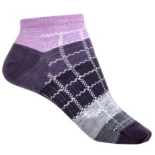 SmartWool Block by Block Ankle Socks - Merino Wool (For Women) in Lilac Heather - Closeouts