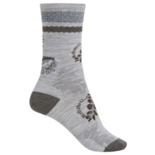 SmartWool Blossom Bitty Socks - Merino Wool, Crew (For Women) in Ash Heather - Closeouts
