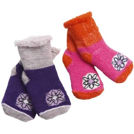 SmartWool Bootie Batch Socks - 2-Pack, Merino Wool (For Infants) in Purple