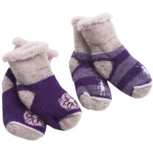 SmartWool Bootie Batch Socks - 2-Pack, Merino Wool (For Infants) in Purple - 2nds