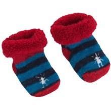 SmartWool Bootie Batch Socks - 2-Pack, Merino Wool (For Infants) in Red/Navy Stripe - Closeouts
