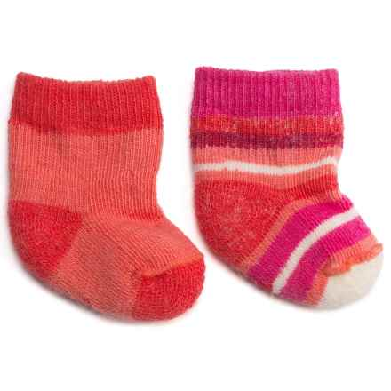 SmartWool Bootie Batch Socks - Merino Wool (For Infants) in Bright Coral - 2nds