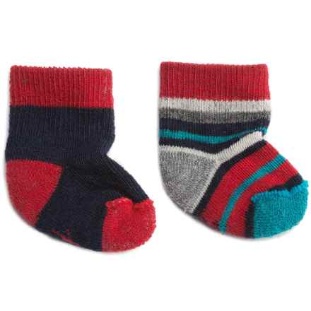 SmartWool Bootie Batch Socks - Merino Wool (For Infants) in Deep Navy Heather - 2nds