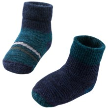 SmartWool Bootie Batch Socks - Merino Wool (For Infants) in Deep Sea Heather - 2nds