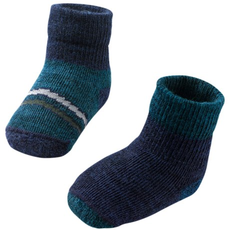 SmartWool Bootie Batch Socks - Merino Wool (For Infants) in Deep Sea Heather