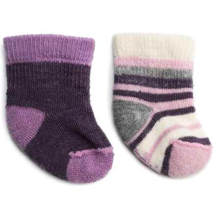 SmartWool Bootie Batch Socks - Merino Wool (For Infants) in Desert Purple Heather - 2nds