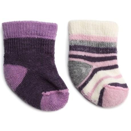 SmartWool Bootie Batch Socks - Merino Wool (For Infants) in Desert Purple Heather