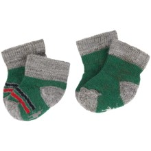 SmartWool Bootie Batch Socks - Merino Wool (For Infants) in Grasshopper/Light Grey Heather - 2nds